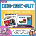 Odd One Out Task Cards: 24 Critical and Creative Thinking
