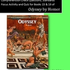 Odyssey Books 15 & 16: Questions, Personification Activity