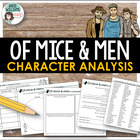 Of Mice & Men - Character Worksheets / Graphic Organizers