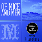 Of Mice and Men - 5 Common Core Graphic Organizers