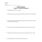 Of Mice and Men Chapter 1 Discussion Questions