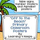Off to the Beach Primary Poster Set
