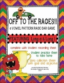 Vowel pattern race car game! Featuring long a & long i! Wi