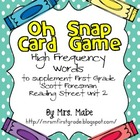 Oh Snap - High Frequency Word Game for Reading Street Unit 2