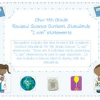 "Ohio 4th Grade Science Content Standards ""I can"" statements"