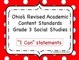 Ohio Academic Content Standards for Social Studies Grade 3