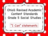 Ohio Academic Content Standards for Social Studies Grade 5