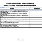 Ohio's Academic Content Standards Extended Student Checkli