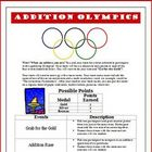 Olympics Addition Math Game Activity Common Core Standards Met