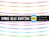 Ombre Bead Bunting