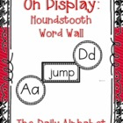 On Display ~ Houndstooth Word Wall