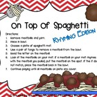 On Top Of Spaghetti Rhyming Edition