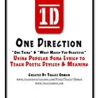 One Direction Song Lyrics Poetry Activity