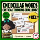 One Dollar Words Freebie -- Critical Thinking