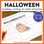 One Haunted Halloween! {Math & Literacy Activities}