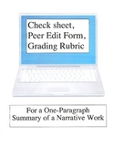 One-Paragraph Summary Writing