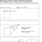 One-Point Perspective Building Worksheet