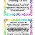 One Sentence Summarizing Task Cards