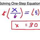 One Step Equations (100 questions), Worksheet