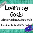 Ontario Curriculum Learning Goals Grade 5 Science/Social Studies