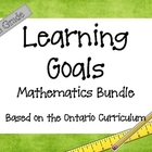 Ontario Curriculum Learning Goals Grade 6 Mathematics