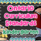 Ontario Kindergarten Standards I Can Posters & Checklist
