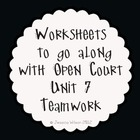Open Court Unit 7 Worksheets