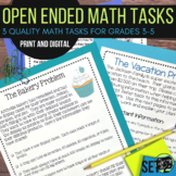 Open Ended Math Challenges Set 2--Grades 3-6