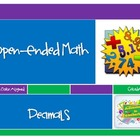 Open-Ended Math Journal Prompts: Decimals (Common Core Gra