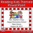 Open House/Back to School PowerPoint Presentation Reading