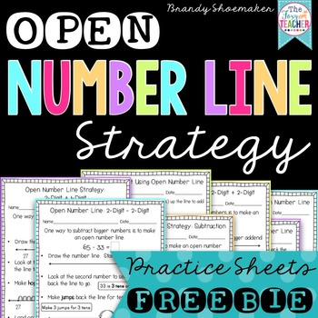 Open Number Line Strategy for Addition and Subtraction Freebie