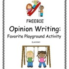 Opinion Writing: Favorite Playground Activity