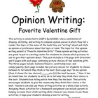 Opinion Writing: Favorite Valentine Gift
