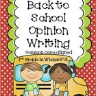 Opinion Writing Packet~ Back to School Theme  Freebie in t