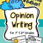 Opinion Writing for Primary Grades ~ Wild About Weather! {