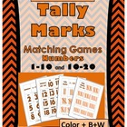 Tally Marks Matching Games (Numbers 1-10 & 10-20)  Orange