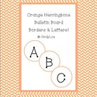 Orange Herringbone Bulletin Board Border & Letter Set