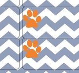 Orange and Blue Style Chevron
