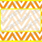 Labels: Orange and Yellow Chevron, 10 per page