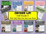 Order Up! Math Bundle #1 (10 Sets)