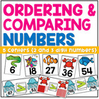 Order and Compare Numbers Centers Pack Ocean Animal Theme