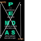 Order of Operations Poster PEMDAS