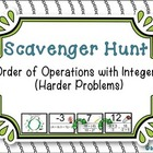 Order of Operations with Integers - Scavenger Hunt (Harder