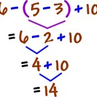 Order of operations Homework (24 Questions)