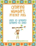 Ordering Numbers Activity Pack