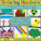 Ordering Numbers Mystery Pattern Pictures - Before, After,