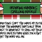 Ordering Numbers Spelling Puzzle