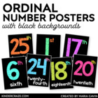 Ordinal Number Posters {Black Series}