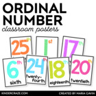 Ordinal Number Posters {White Series}