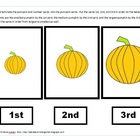 Ordinal Number Pumpkin Assessment Cards
